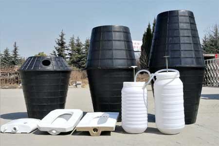 双瓮漏斗式化粪池结构工作原理 农村旱厕改造化粪池产品
