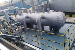 山东某钢铁厂与我公司合作相变式万博手机版登录回收器提高锅炉效率